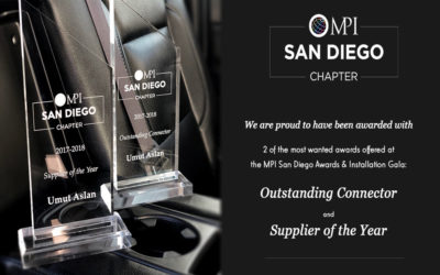 MIB Transportation Receives Supplier of the Year and Outstanding Connecter Awards at MPI San Diego Chapter